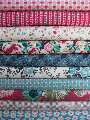 Art Gallery Fabrics, Floressence, Luminescent in FAT QUARTERS 10 Total