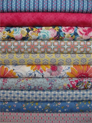 Art Gallery Fabrics, Floressence, Magnificent in FAT QUARTERS 10 Total