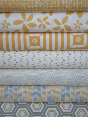 Art Gallery Fabrics, Minimalista, Honeycomb in FAT QUARTERS 7 Total