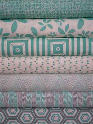 Art Gallery Fabrics, Minimalista, Turquoise 7 Total