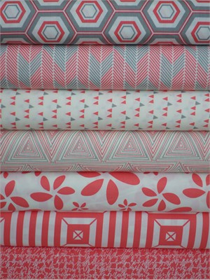Art Gallery Fabrics, Minimalista, Watermelon in FAT QUARTERS 7 Total