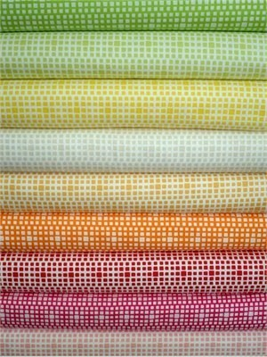 Art Gallery Fabrics, Squared Elements Sampler, Spring in FAT QUARTERS 7 Total (PRE-CUT)