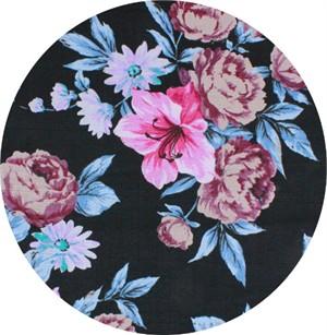 Gertrude Made for Ella Blue Fabrics, Outback Wife, BARKCLOTH, Elaine Blue