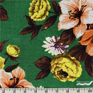Gertrude Made for Ella Blue Fabrics, Outback Wife, BARKCLOTH, Elaine Orange
