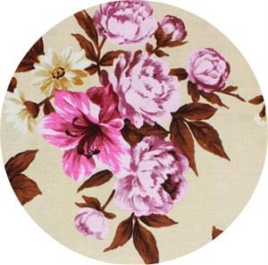 Gertrude Made for Ella Blue Fabrics, Outback Wife, BARKCLOTH, Elaine Pink