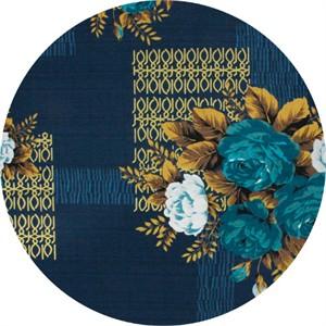 Gertrude Made for Ella Blue Fabrics, Outback Wife, BARKCLOTH, Kristine Blue