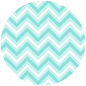 Barbara Jones, Anything Goes Basics, Chevron Aqua