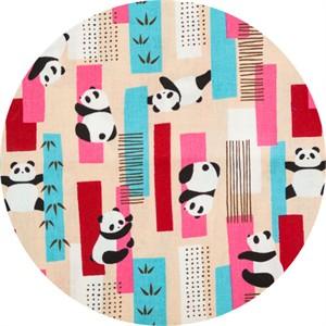 Cosmo Textiles, SHEETING, Bamboo Panda Pink