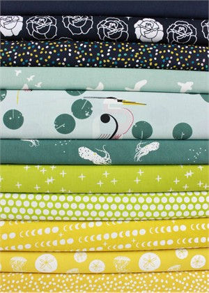 Fabricworm Custom Bundle, ORGANIC, Beach Bound in FAT QUARTERS 11 Total