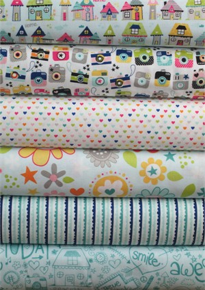 Bella Blvd, Snapshots, Blue in FAT QUARTERS 5 Total (PRE-CUT)