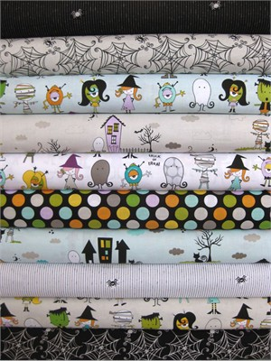 Bella Blvd, Too Cute To Spook in FAT QUARTERS, 10 Total