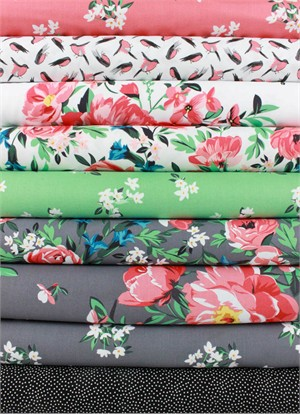 Michael Miller, Bed of Roses in FAT QUARTERS 8 Total