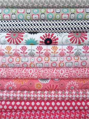 Bee In My Bonnet, Gracie Girl, Pink in FAT QUARTERS 11 Total