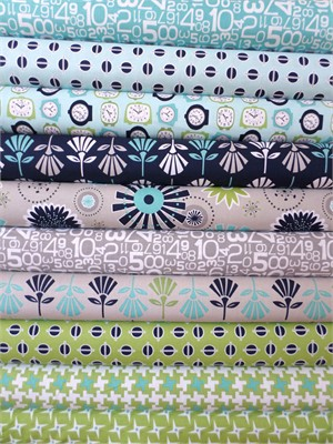 Bee In My Bonnet, Gracie Girl, Blue/Green in FAT QUARTERS 8 Total