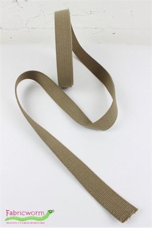 Japanese Import, Poly Elastic Woven Belting, Dark Khaki