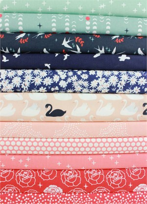 Fabricworm Custom Bundle, ORGANIC, Bevy of Beauty in FAT QUARTERS 10 Total
