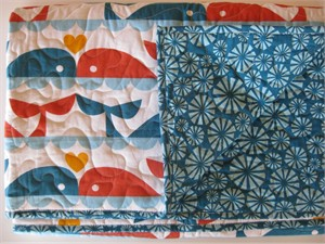 Birch Organic Play Quilt Whale Love