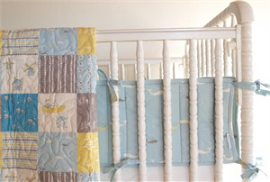 Birch Organic Crib Bumper Whale Watching