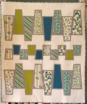 Birch Fabrics Quilt Kit, Bouncing Wedges Grass/Pool