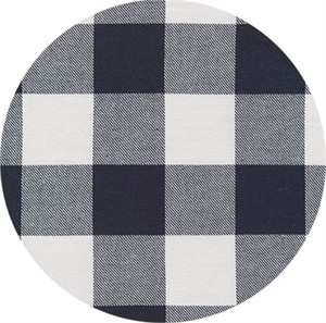 Robert Kaufman, Grizzly Plaid FLANNEL, Big Check Navy