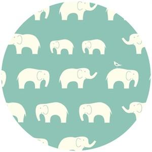 Birch Organic Fabrics, DOUBLE GAUZE, Elephant Family Pool