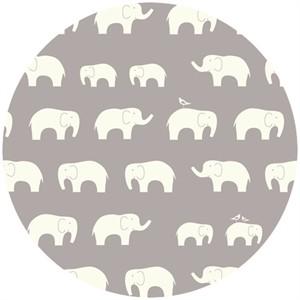 Birch Organic Fabrics, DOUBLE GAUZE, Elephant Family Shroom