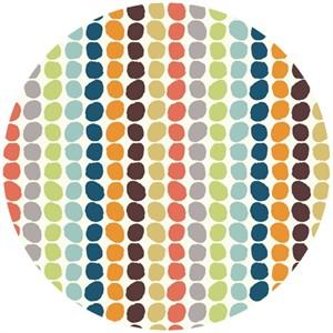 Birch Organic Fabrics, DOUBLE GAUZE, Pebble Stripe Multi