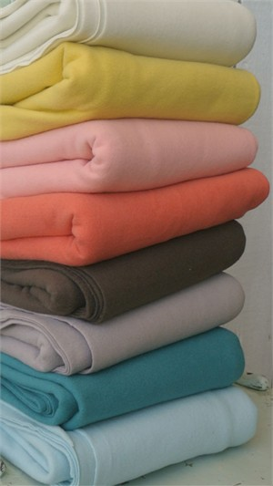 Birch Organic Fabrics, Wide Width, Fleece Solids Sampler 8 Total