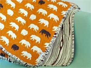 Birch Organic Play Quilt Bear Hike Orange