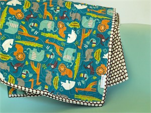 Birch Organic Play Quilt Soiree Teal