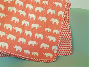 Birch Organic Play Quilt Ellie Fam Coral