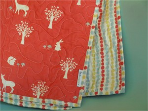 Birch Organic Play Quilt Field Friends Coral