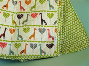 Birch Organic Play Quilt Giraffe Love