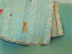 Birch Organic Play Quilt Kelp Forest