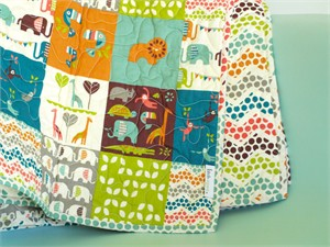Birch Organic Play Quilt Soiree Patch