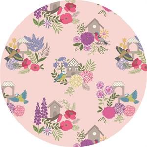 Lewis & Irene, Grandma's Garden, Bird Houses Pink