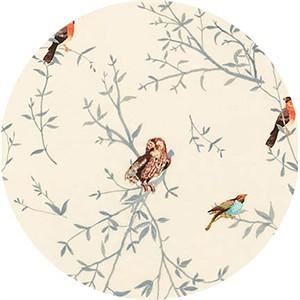 Liesl Gibson for Robert Kaufman, Woodland Clearing, LAWN, Bird Watch Ivory
