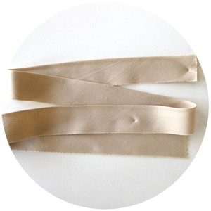 "Bias Tape, Bella Solids, 2"" Single Fold, Tan (1 Yard)"