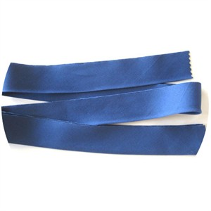 "Bias Tape, Bella Solids, 2"" Single Fold, Admiral Blue (1 Yard)"