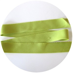 "Bias Tape, Bella Solids, 2"" Single Fold, Chartreuse (1 Yard)"