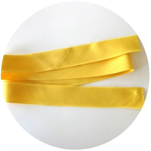 "Bias Tape, Bella Solids, 2"" Single Fold, Yellow (1 Yard)"