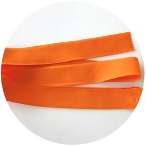 "Bias Tape, Bella Solids, 2"" Single Fold, Orange (1 Yard)"