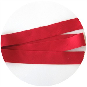 "Bias Tape, Bella Solids, 2"" Single Fold, Christmas Red (1 Yard)"