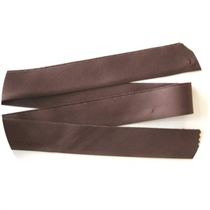 "Bias Tape, Bella Solids, 2"" Single Fold, Brown (1 Yard)"