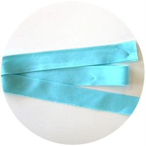 "Bias Tape, Bella Solids, 2"" Single Fold, Robins Egg (1 Yard)"