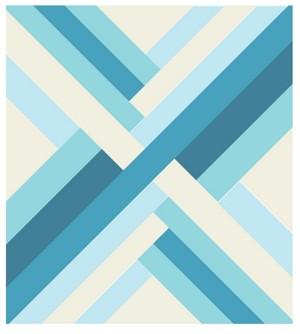Blue Maypole Quilt Kit Featuring Mod Basics' Solids