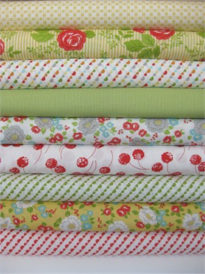 Bonnie & Camille, Happy Go Lucky, Multi in FAT QUARTERS 10 Total