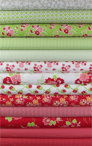 Bonnie & Camille, Miss Kate, Apple/Red in FAT QUARTERS 13 Total