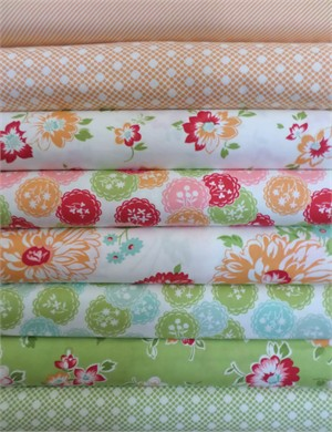 Bonnie & Camille, Scrumptious, Orange/Lime in FAT QUARTERS 8 Total