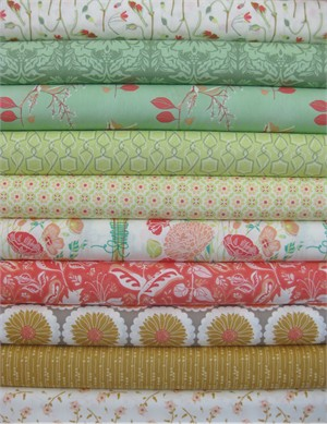 Bonnie Christine for Art Gallery, Reminisce, Sweet Reveries in FAT QUARTERS 9 Total